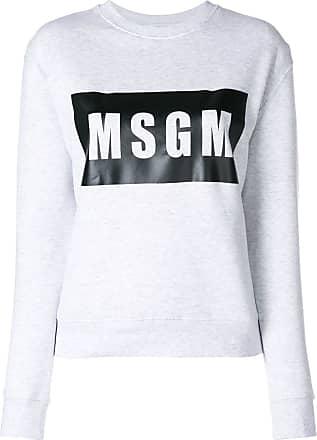 Gris Gris Logo Logo Msgm Msgm Front Sweatshirt Sweatshirt Front Msgm x7w1On7Fq