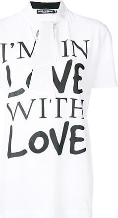 In T With À Gabbana amp; Love Im Imprimé shirt Dolce Blanc pn0C6A