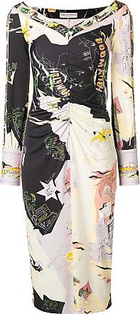 Cuffed Dress Tons neck Pucci V Emilio Neutres Wide qCxwTI1z