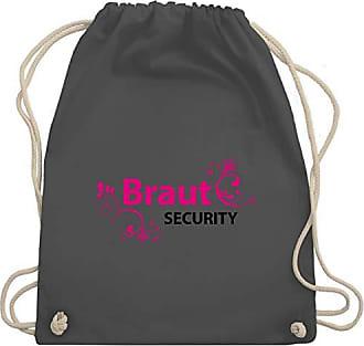 Wm110 Gym Turnbeutel Unisize Junggesellinnenabschied Braut Security Dunkelgrau Bag Jga amp; Shirtracer qTzwYY