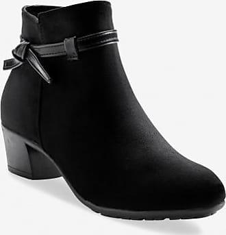 Noir Boots À Talon Noeud Et Blancheporte XZwgznxzd