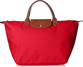 Damen Cm Henkeltasche Le Longchamp Medium Pliage red 20x28x30 Rot pqd78wnA