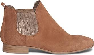 Boots En Velours Chelsea Dorés Élastiques Cuir Éram À Camel 7w5qv4