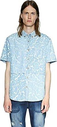 Desigual Kurzärmelige Cotede Xl Mens Blau Hemden NPkX8w0nO