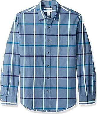 Plaid Shirt Buttondown Amazon Denim Essentials Regular fit hemd sleeve Long C4xxqaXY6w