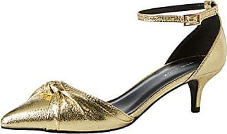 Mujer 38 Punta Tacón Look 5378371 Talla Cerrada Con Color Sintético Dorado New Zapatos De nRzZcwWwq4