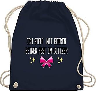 Beiden Glitzer Mit Fest Beinen Im Shirtracer Navy Steh Bag Shirts Turnbeutel Blau amp; Ich Gym Statement Wm110 Unisize XqfnwRgz
