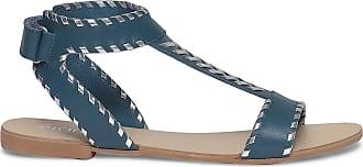 Bleu Et Argent Plate Éram Cuir Sandale vIY0Yxt