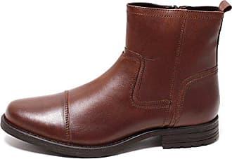 Mit Herren Lederstiefel Stiefeletten 4544 Zapato Gr Echt 42 Reißverschluss Leder Cognac Boots Braun Rqc34jAL5