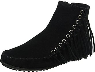Boot 8 Womens Minnetonka Black Suede M Willow 5 xnFq1PwRS