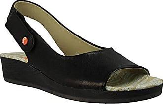 Schwarz Sandalen Softinos Smooth black 36 Eu All454sof Damen Slingback PqBZR