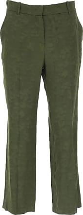 M Pinko 48 Pantalones 44 De 46 Verde Pantalón Mujer Viscosa 2017 40 rPrvq