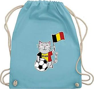 Belgien Bag europameisterschaft Turnbeutel Kinder Unisize Gym 2020 Fußball Shirtracer Fußball Katze amp; Hellblau Wm110 5qOwZY
