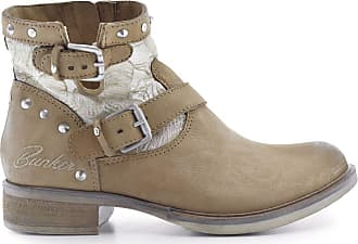 Bunker Soly Boots Boots Cuir Cuir Beige Soly Bunker Beige 7H4qt