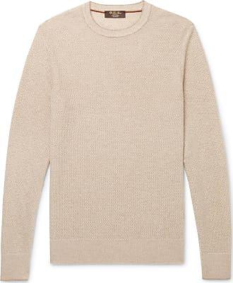 Piana Waffle Loro Knit Beige Sweater Cashmere Slim Baby Fit tH1x1qp