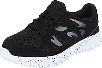 Damen In Hochwertiger Ital LederoptikSchwarzGr design Schuhe521FreizeitschuheSneakers 36 TurnschuheSynthetik 7b6yYfg