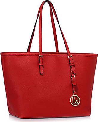 Schultertasche Leahward Red Zum lw Große Damenqualität Groß Einkaufstaschen 297 Handtaschen Größe Damen CqFr0qP