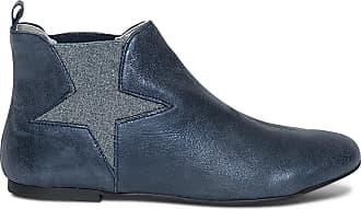 Métallisé Bleu Cuir Vintage Boots Ippon wxqUpw