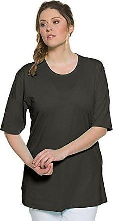 Courtes 52 Fabricant Ulla Ras Foncé Femme taille T 54 Droite 50 shirt Kaki Col Manches T Cou 52 Du Coupe Popken Rundhals shirt SOawRzqTS