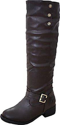 Damen Warm Leder Schuhe Wärme Gefüttert Stiefel Kunstfell Scothen Stiefeletten Winterschuhe Boots Vintage Gefütterte Winterstiefel Profilsohle Schnallen Plüsch Damenstiefel RdEwUq