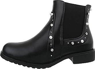Schwarz 40 Ital design Damenschuhe Synthetik Stiefeletten Gr Boots Chelsea wPwrY8q
