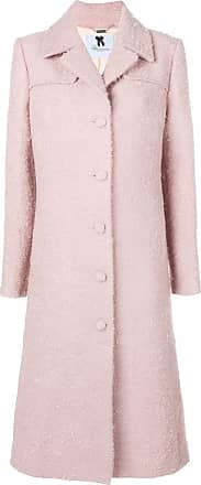 Blumarine Flared Rose Single Breasted Coat qgXqr6