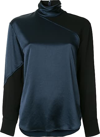Neck Cedric High Charlier Bleu Blouse x6w0B46vq