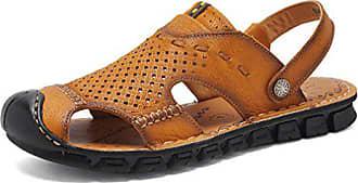 Rundzehen Feidaeu Bequem Sandalen Outdoorschuhe Eu Hohl 42 Einfach Sandalette Sportlich Herren Atmungsaktiv Khaki caaty4fxT1