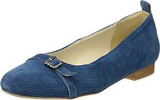 Hirschkogel Geschlossene Damen Eu Ballerinas Blau jeans 3003423 36 SgvrqxS