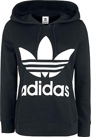 Met wit Zwart Adidas Capuchon Trui Hoodie Trefoil tOwOxHaqR