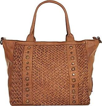 Damen Shopper Look 018967 Leder Echt Cognac Samantha AXgqRq