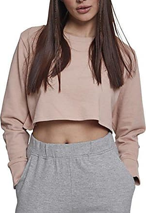 Terry 00823 Mujer Large Rosa lightrose Jersey Cropped Para Crew Urban Classics Ladies TwgqnEU1