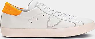 Philippe orange Neon Paris Veau White Blanc Sneakers Model rCwxqF0Zr