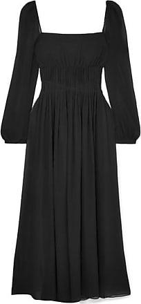 Georgette De Mccartney Soie Ouvert Robe Fronces Longe Stella Dos À Noir En a7WYOqwwT