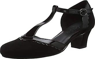 37 Black Noir 7 Hotter Viviene Femme Salomé Patent Escarpins Eu qxwv8wFa