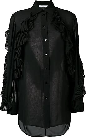 Di Givenchy Con Nero Trasparente mesh Colore Ruches Blusa wP67IZ wA4qzB