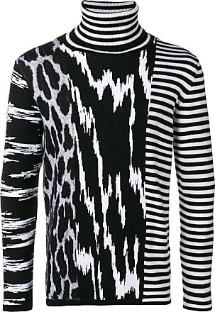 Givenchy Noir Sweater Pattern Knit Contrast TTqgAYR
