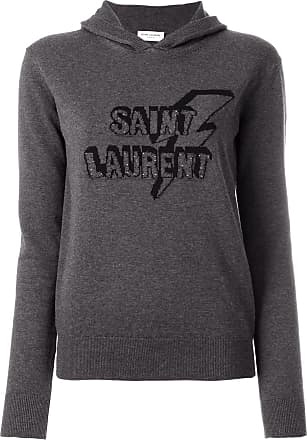 Capuche Sweat Gris Imprimé Saint À Laurent Devant 4Rwt6Hq