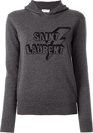 Devant Sweat Laurent À Capuche Imprimé Saint Gris aqFXx