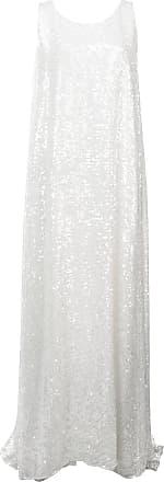 Embellished Dress Maxi Blanc Adam Flared Lippes SKFOwyqB