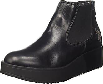 Blk Eu nero Association Sapphire Boots Femme Chelsea s Noir U polo 36 Leather vxq4UZwg
