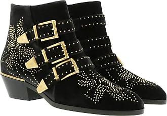 Susanna Chloé Charcoal Leather Black Schwarz Boots qFYw1BxwWp