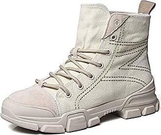 Combat Canvas Boots Kurzschaft Damen 35 Stiefel Eu Outdoor Beige Aisun Schnürsenkel Sportlich Ziernähte 0x4wcqTp