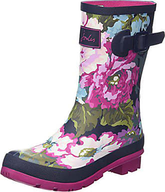 Bleu Blue Welly exclusive Wellingtons Navy 38 Femme Floral Work Molly Joules XqwxU4YTY