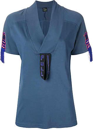 amp; Mr Italy shirt Mrs Geborduurde Blauw Detailt wFaUq