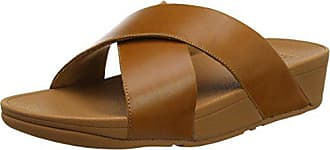 Ouvert Fitflop Eu Sandals 098 caramel Marron Bout 37 Slide Femme Lulu Cross leather Yqgn4rY7