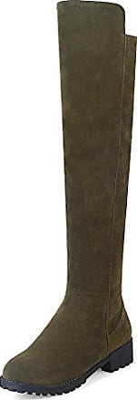 Stiefel Easemax Langschaft Nubuk Damen Elegant Profilsohle Eu 37 Grün Overknee 0wNnm8