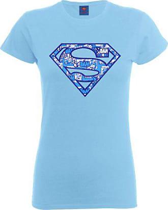 shirt Cou Bleu Femme Ras Manches Dc Courtes T Du Comics 42 Ciel Col xCqEUTHw