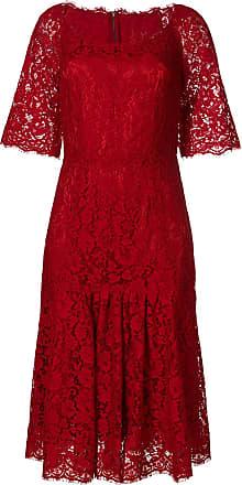 En Dentelle Dolce amp; Robe Mi longue Rouge Gabbana UxXYXfPwq