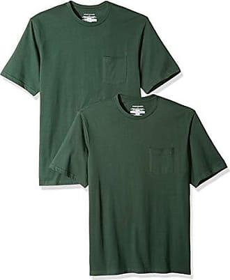 fit Essentials shirt Camiseta Dar Pocket pack X Regular Crew T 2 Verde small Green Amazon dark dFwHxqIH